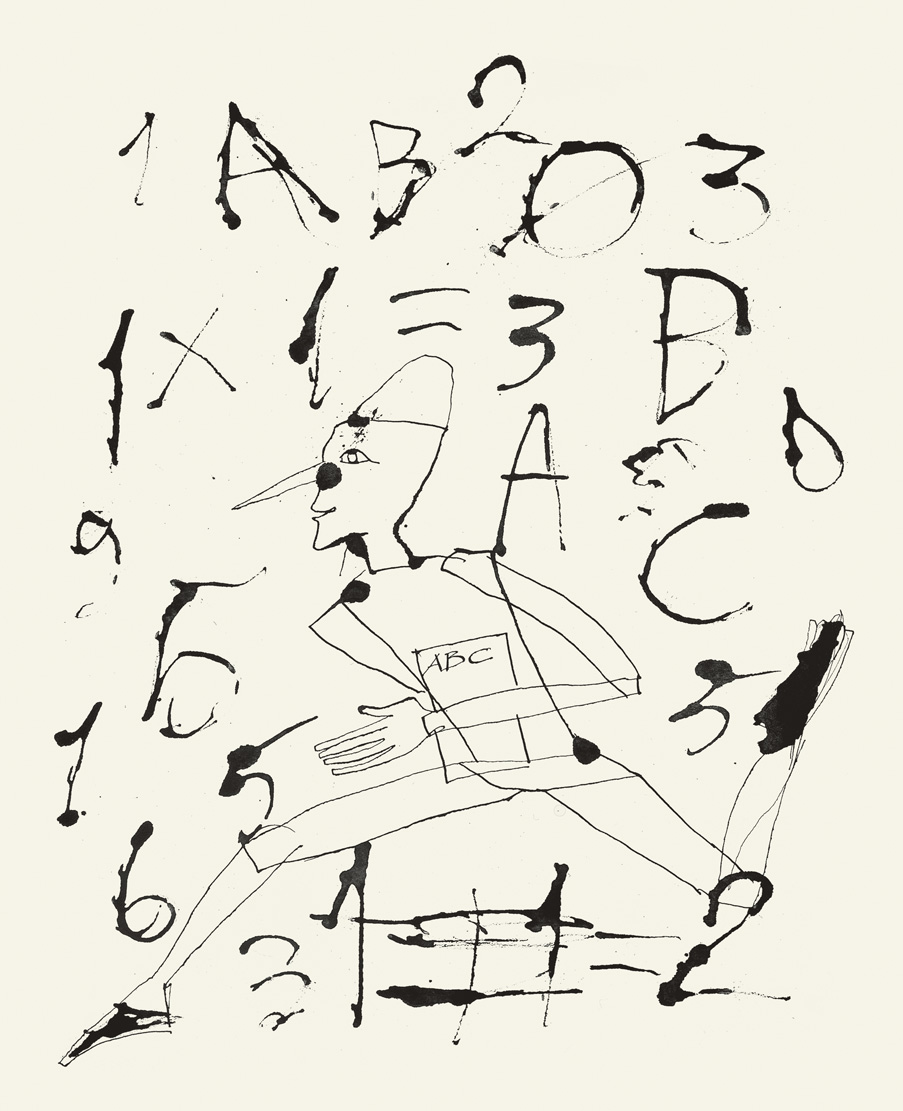 <p>Fig. 6. Mimmo Paladino, opera grafica per <em>Pinocchio</em>, 2004. Serigrafia, carborundum, 60x45 cm</p>