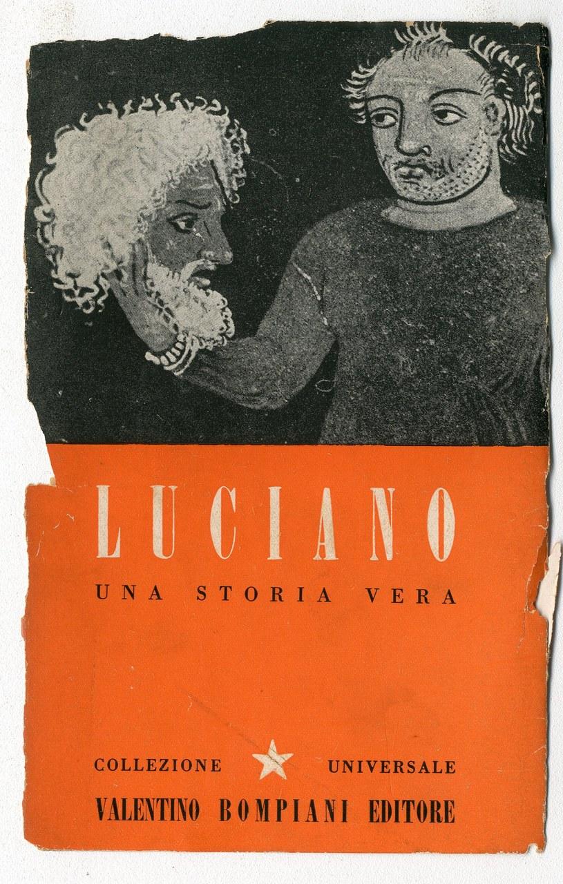 <p><br />Fig. 7 Copertina di <em>Una storia vera</em> di Luciano di Samosata (Bompiani, 1944)</p>