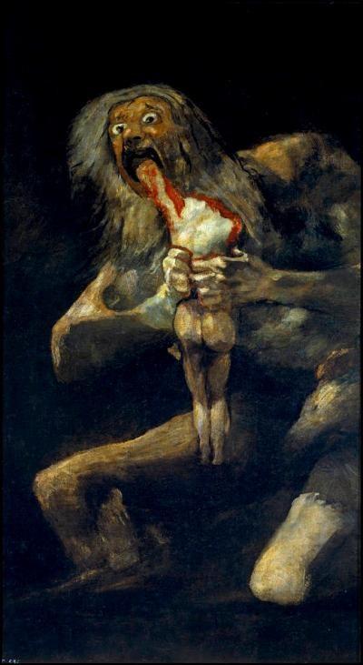 <p><em>Saturno che divora i suoi figli</em>, Francisco Goya (1819-1823)</p>