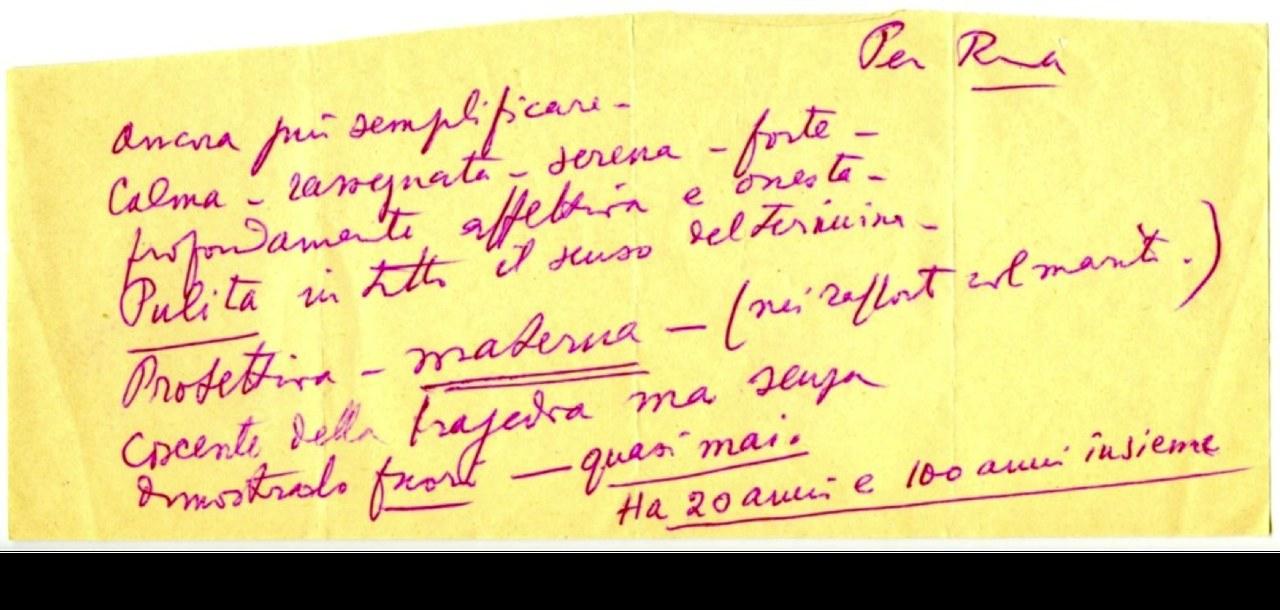 <p>Biglietto autografo di Luchino Visconti indirizzato a Rina Morelli, Fondo Stoppa, © Museo Biblioteca dell'Attore, Genova.</p>