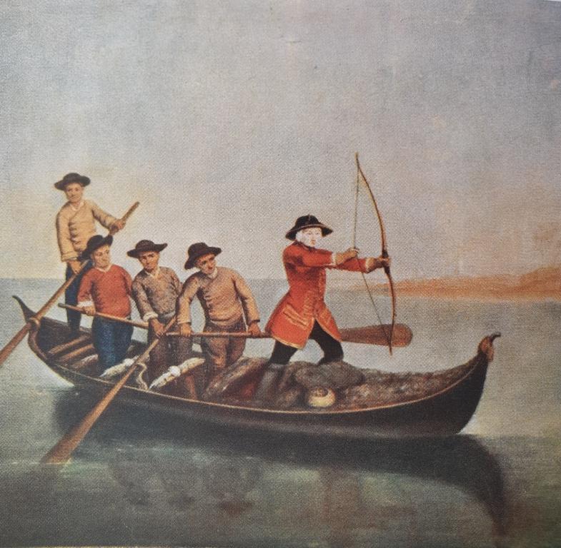 <p><br />Fig. 6 P. Longhi, <em>La caccia in laguna</em>, 1760, Museo della Fondazione Querini Stampalia, Venezia</p>
