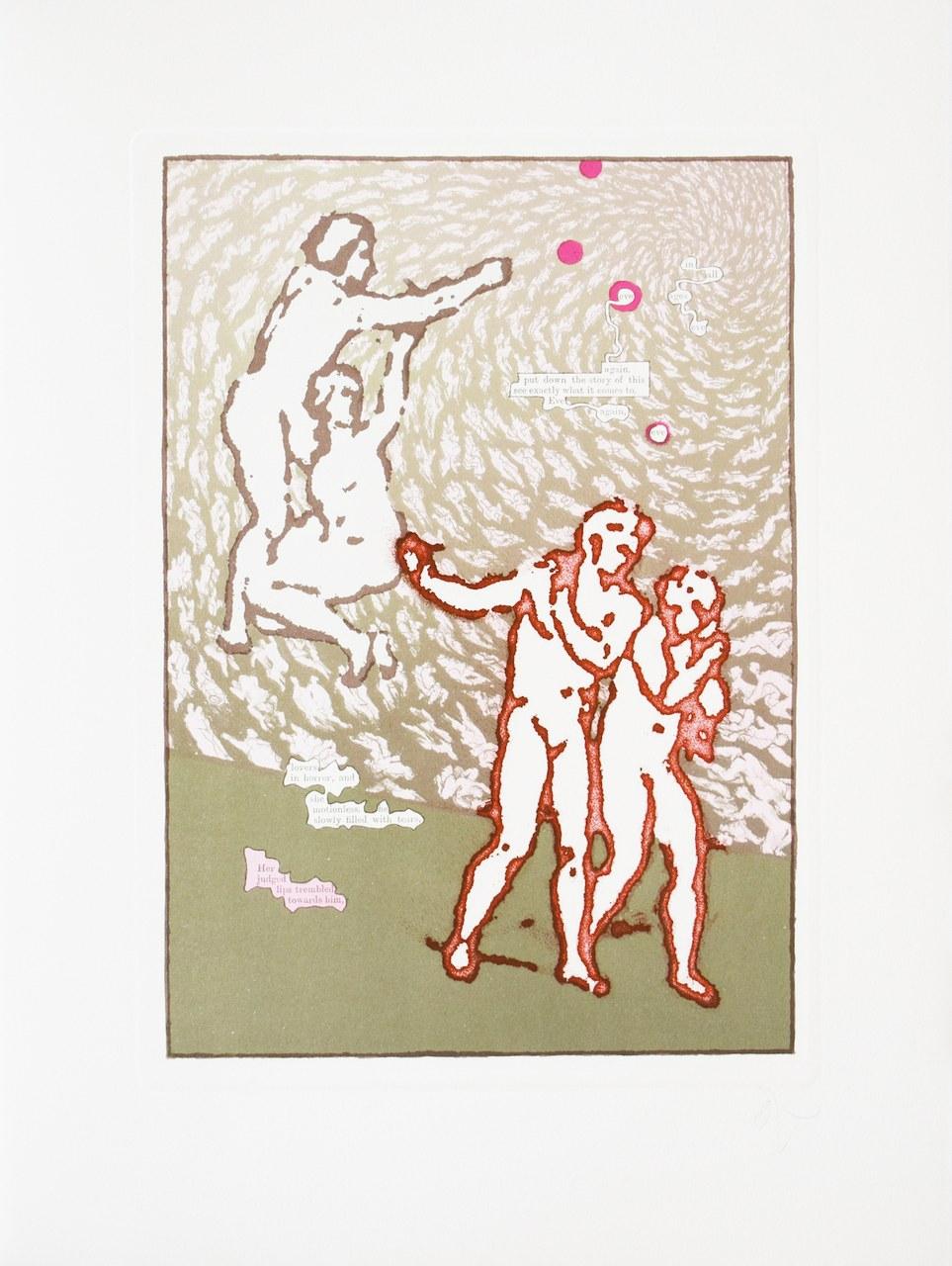 fig. 8 Tom Phillips, Canto V/4, illustrazione perDante's Inferno.The First Part of the Divine Comedy of Dante Alighieri, London, Talfourd Press, 1983