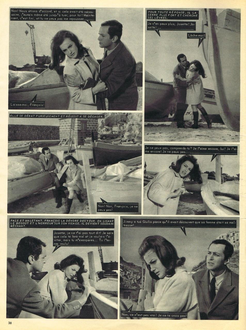 Du sang sur la robe de la mariée, roman-photo de Champs-Elysées, 1967