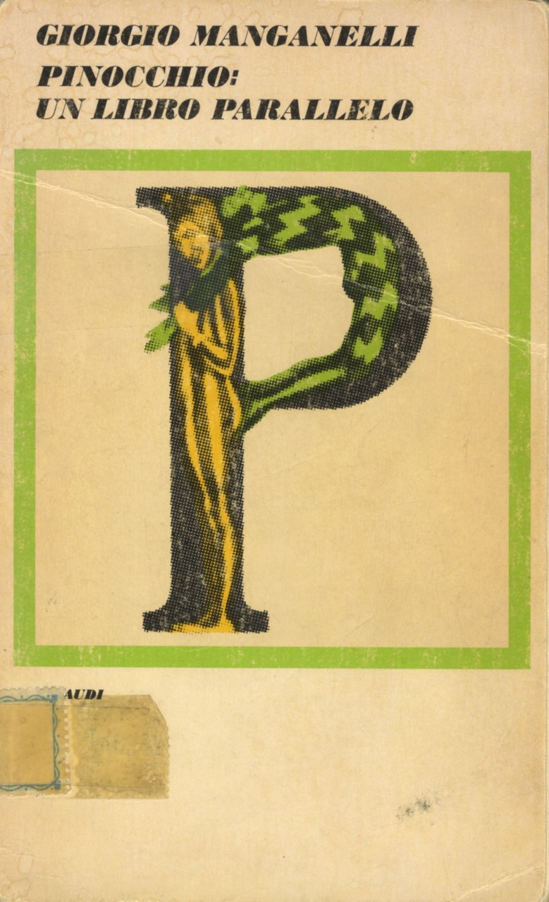 Fig.1.Copertina di Pinocchio: un libro parallelo, Einaudi,1977