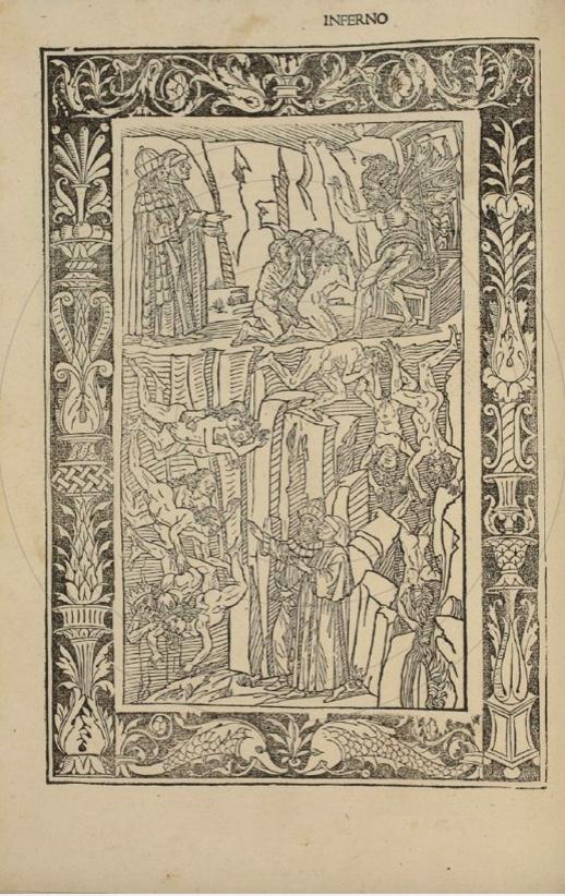 fig. 2 Dante Alighieri,La Commedia, comm. Crisoforo Landino, Brescia, Bonino de' Bonini, 31 marzo 1487, p. 85
