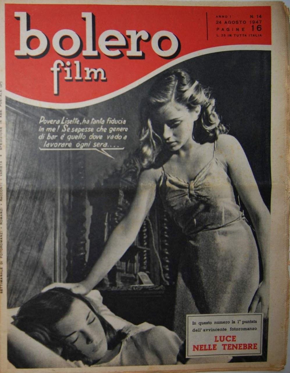 Une des premières couvertures de Bolero (24 août 1947), grand concurrent de Il Mio Sogno aux débuts du roman-photo