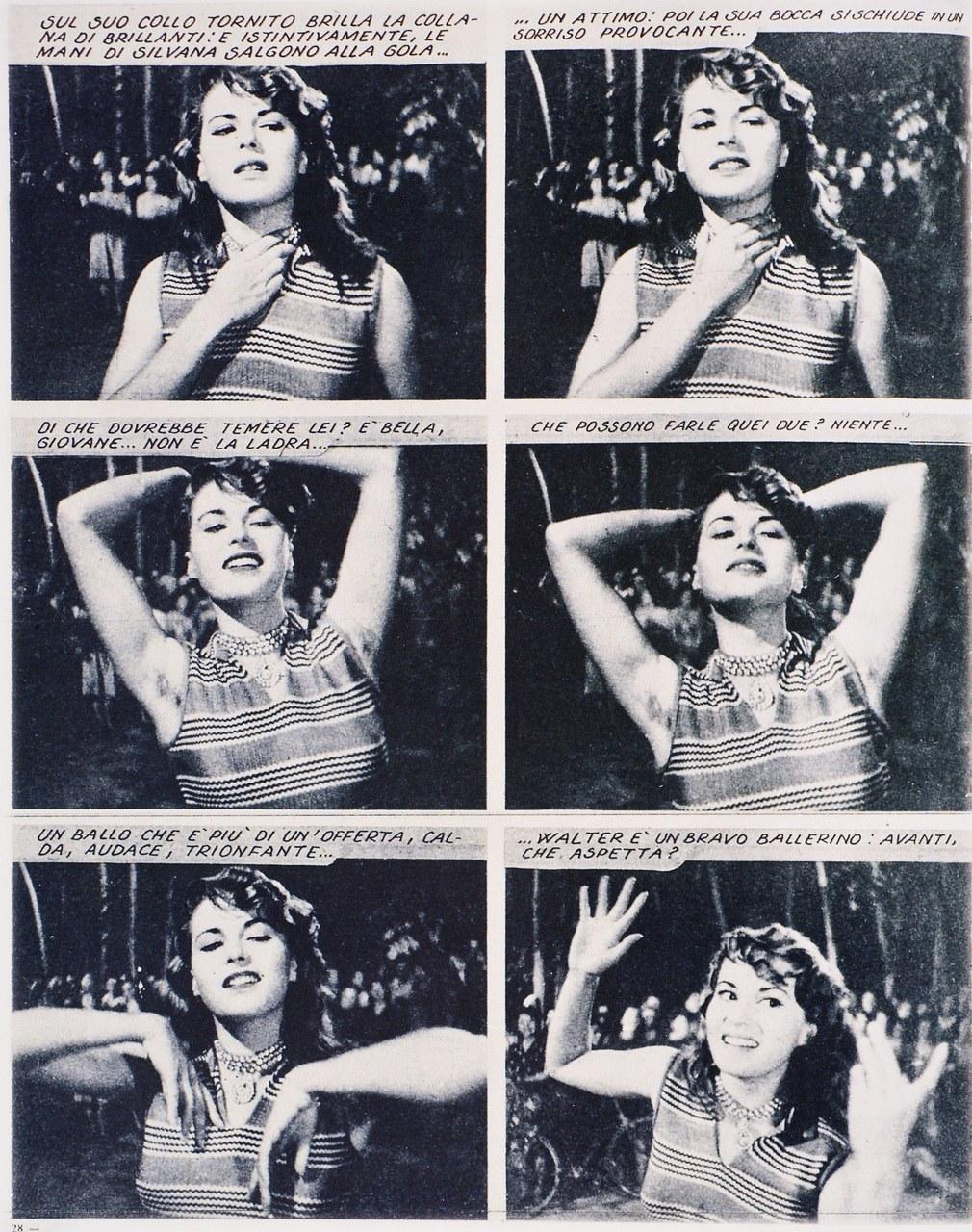 Fragment du cineromanzo tiré de Riso Amaro, dir. Giuseppe De Santis, avec Silvana Mangano (1948)
