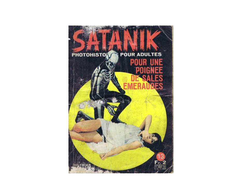 Couverture de Satanik, Pour une poignée de sales émeraudes (1967)