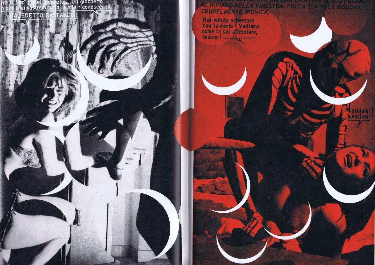 Stefano Arienti & Franco Busatta, Killing, Piombo Rovente, fragment (Milano, edizioni if, 2006, un remake de Killing n. 1, 1966)