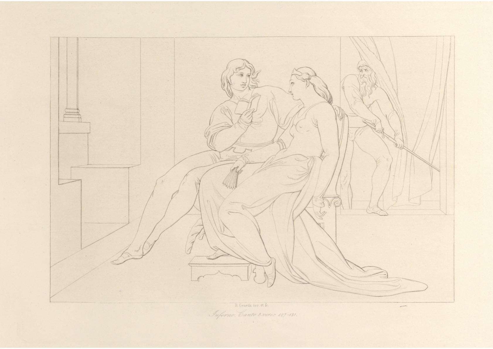 fig. 7 Bonaventura Genelli,Contorni sulla Divina Commedia di Dante