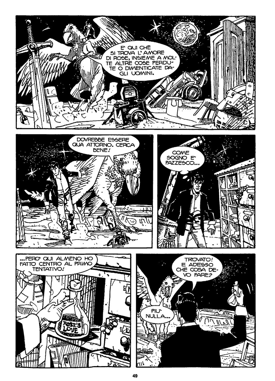 Giovanni Di Gregorio,Luigi Piccatto, Il viaggio di Dylan Dog e dell'ippogrifo sulla luna, in Il re delle mosche, 2009, p. 49