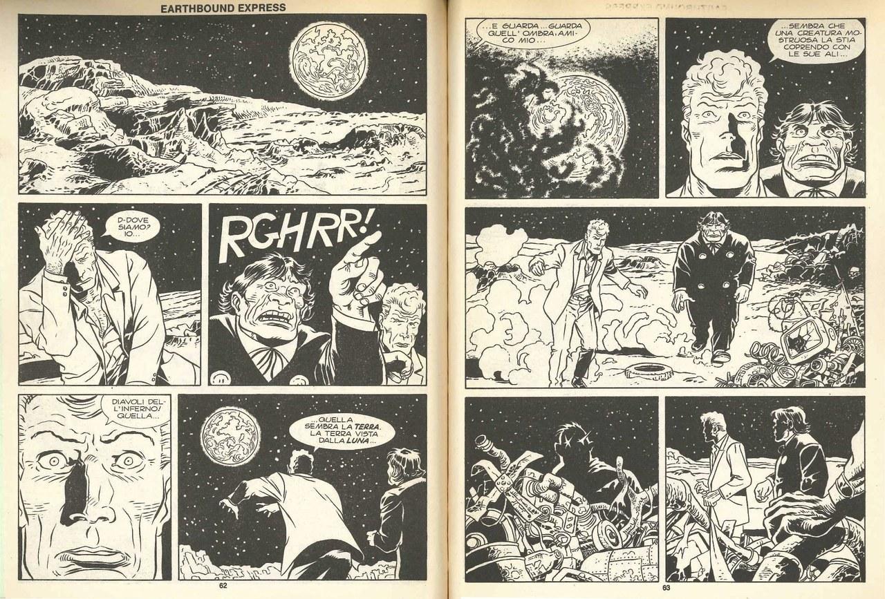 Alfredo Castelli,Esposito Bros, Viaggio sulla luna, in Orlando il paladino, 1990, pp. 62-63