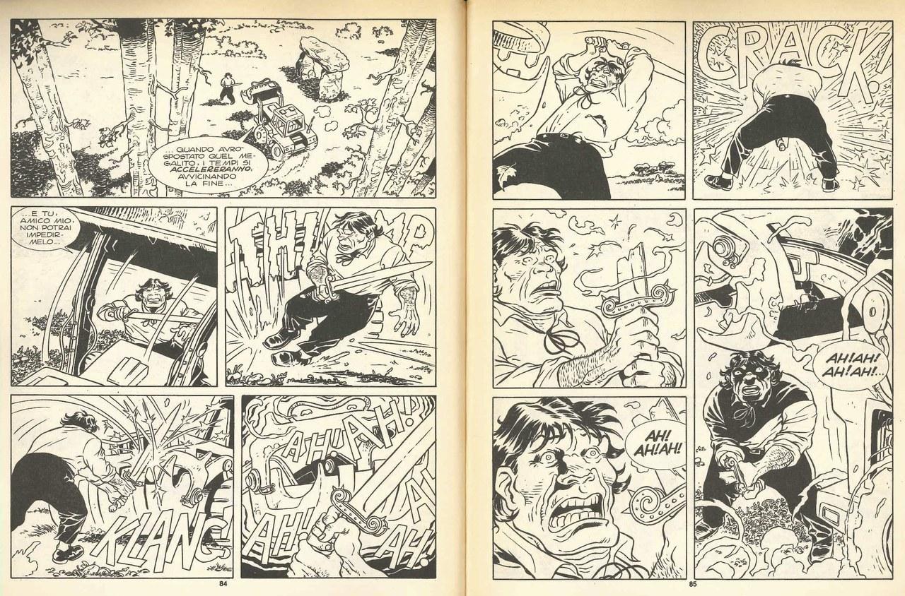 Alfredo Castelli,Esposito Bros, Il duello fra Java e la draga, in Orlando il paladino, 1990, pp. 84-85