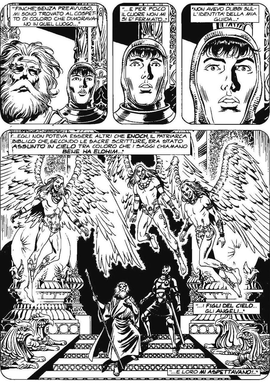 Carlo Recagno, Esposito Bros, L'incontro di Astolfo conEnoch e gli angeli, in Il re rosso, 2006, p. 105