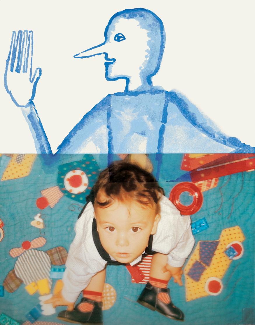 Fig. 2. Mimmo Paladino, opera grafica per Pinocchio, 2004. Serigrafia su P.V.C., fotografia, 60x45 cm