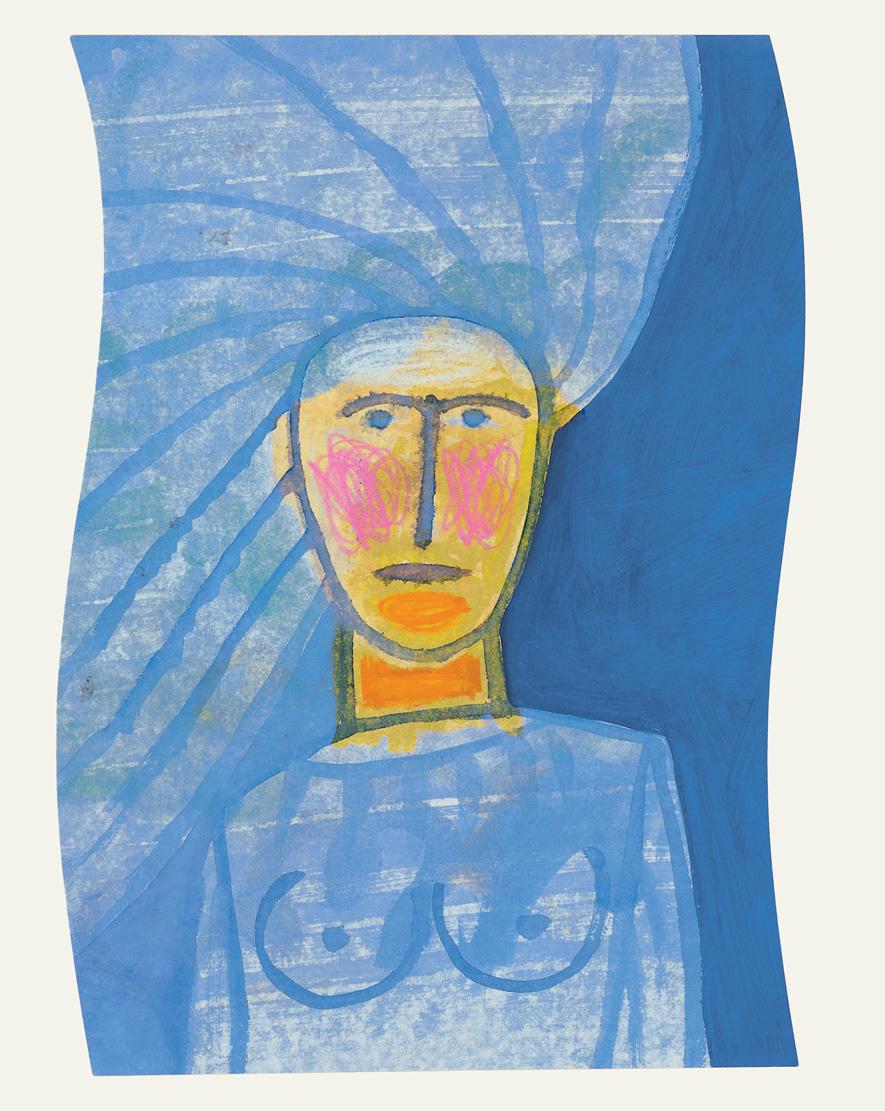 Fig. 5. Mimmo Paladino, opera grafica per Pinocchio, 2004. Serigrafia, collage, acquaforte, 60x45 cm