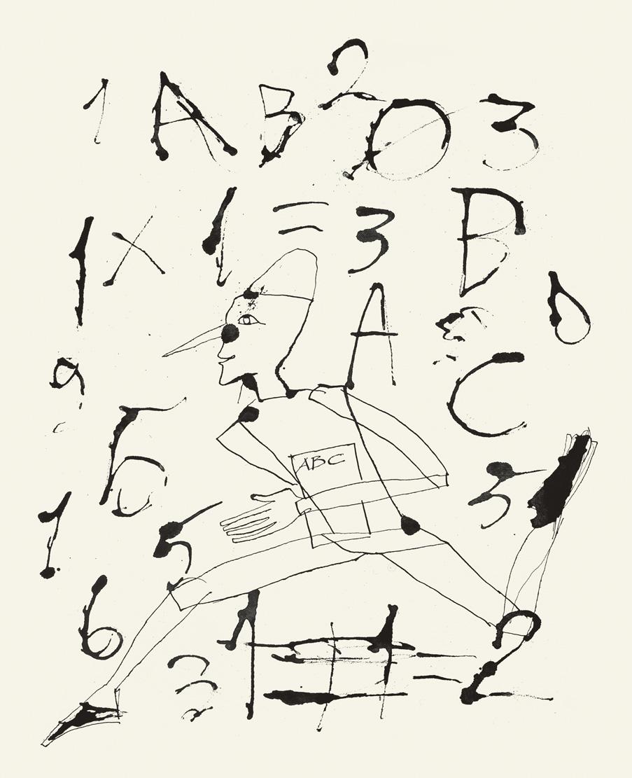 Fig. 6. Mimmo Paladino, opera grafica per Pinocchio, 2004. Serigrafia, carborundum, 60x45 cm