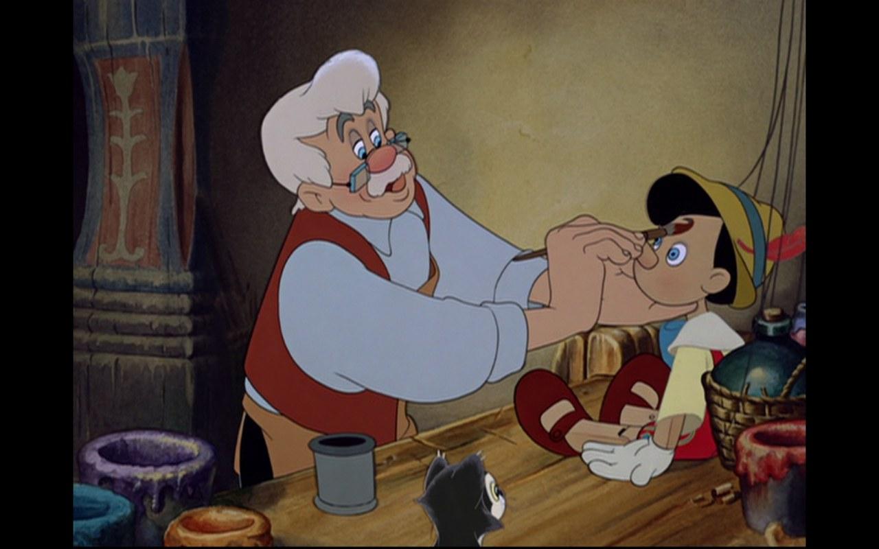 Fig. 3. Geppetto (B. Sharpsteen, H. Luske, Pinocchio, Walt Disney Studios, 1940)