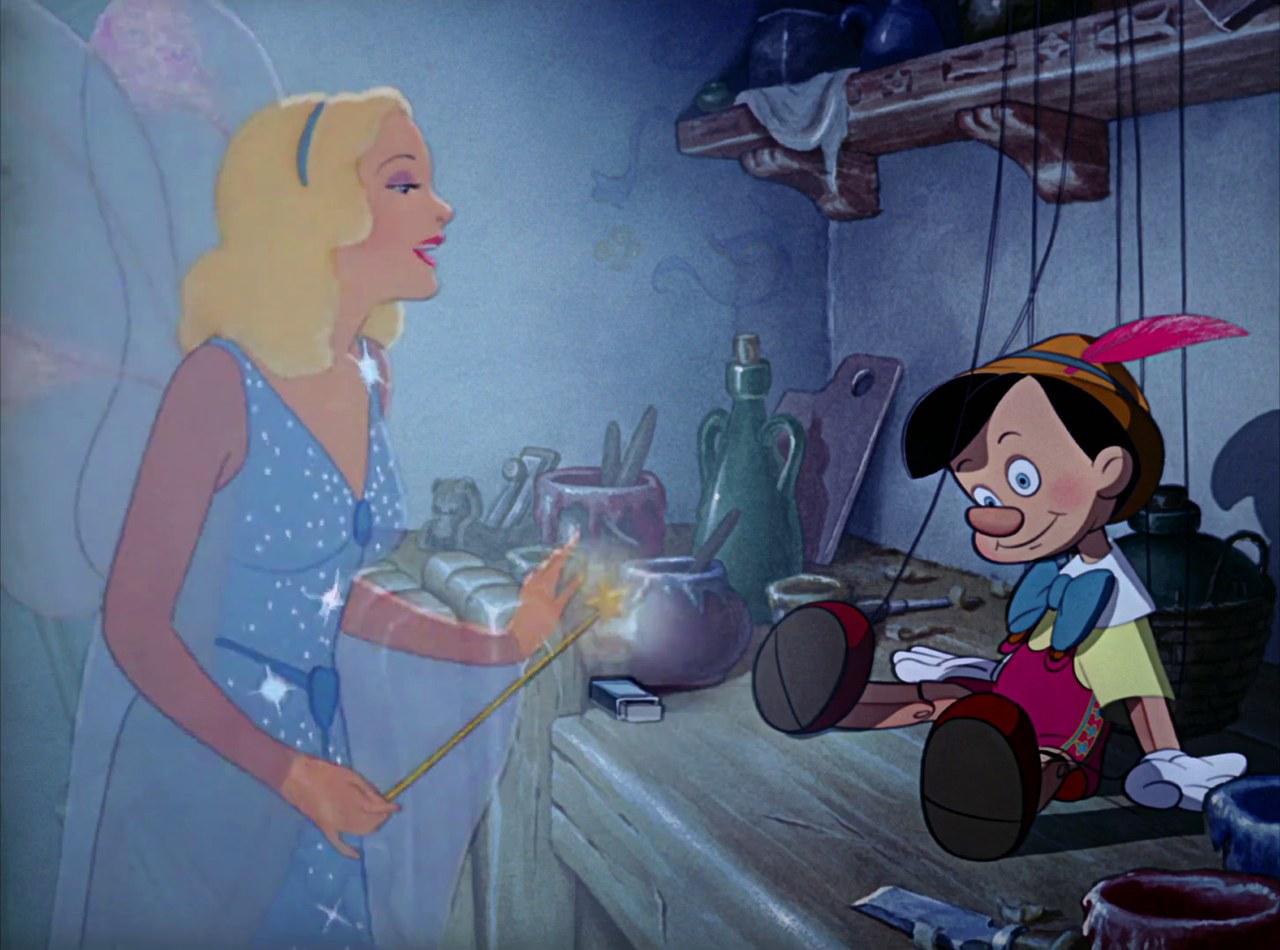 Fig. 8. Blue Fairy (B. Sharpsteen, H. Luske, Pinocchio, Walt Disney Studios, 1940)