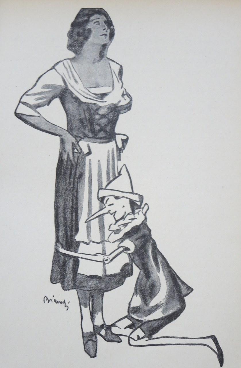Fig. 7. Alberto Bianchi, … e gettandosi ginocchioni per terra, abbracciava i ginocchi di quella donnina misteriosa