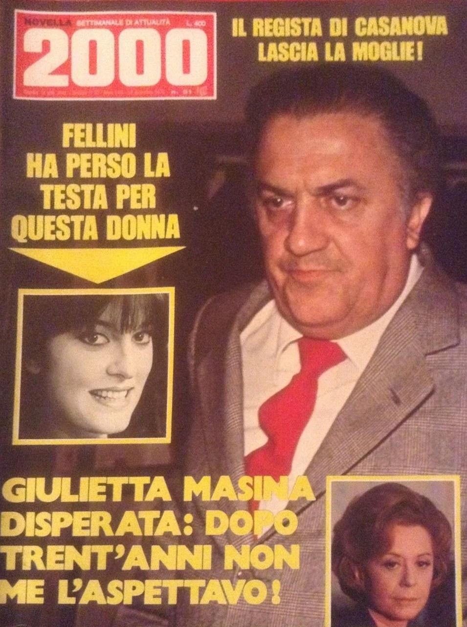 Fig. 5 Giulietta Masina nella copertina di Novella 2000 del 1976