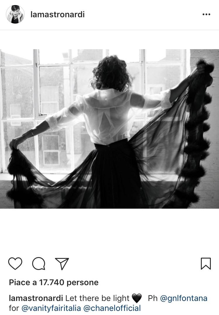 Una foto Chanel per Vanity Fair sul profilo Instagram