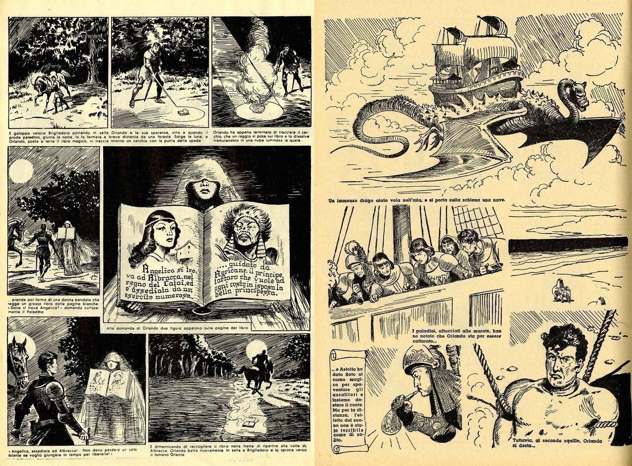 Gian Luigi Bonelli, Rino Albertarelli,Libri magici e navi volanti, 1941-42, [tavv. 15 e 131]