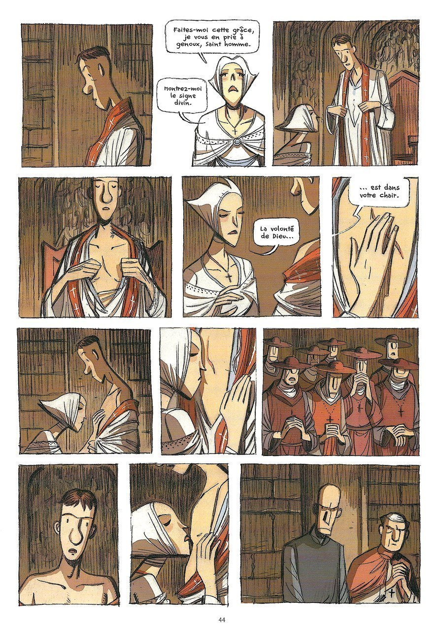 Lorenzo Chiavini,La santa peccatrice, 2012, p. 44 [Chiavini©Futuropolis 2012]