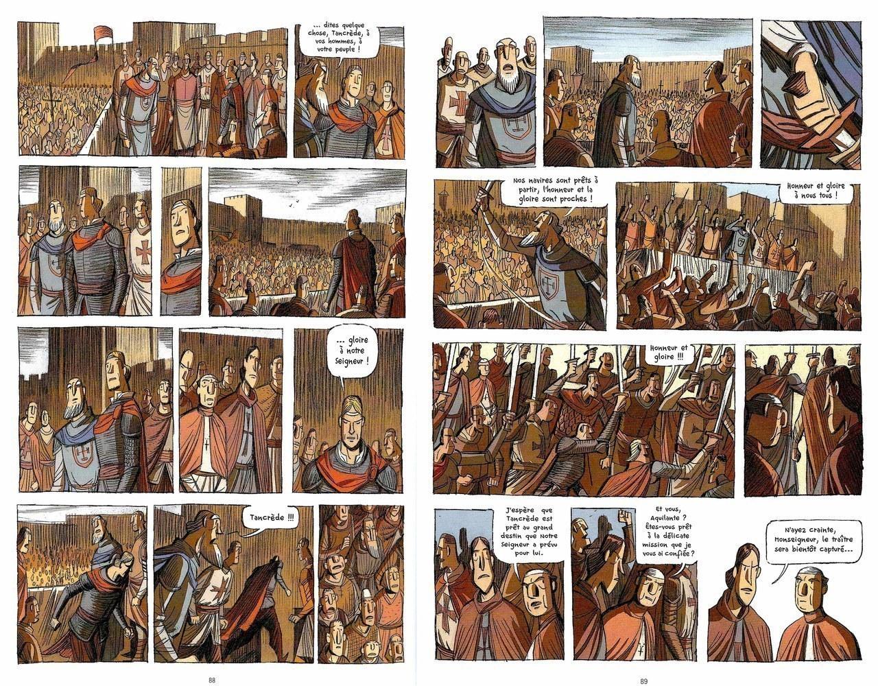 Lorenzo Chiavini,Il dubbio di Tancredi, 2012, pp. 88-89 [Chiavini©Futuropolis 2012]
