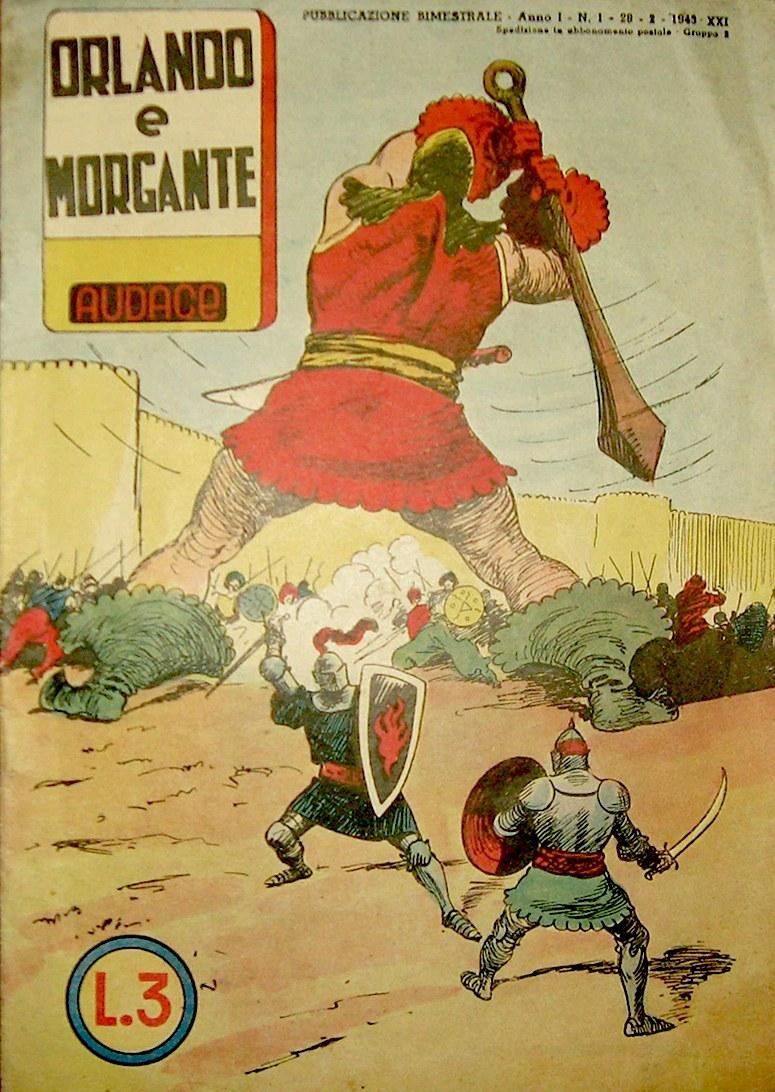 Rino Albertarelli, Copertina diOrlando e Morgante, 1943