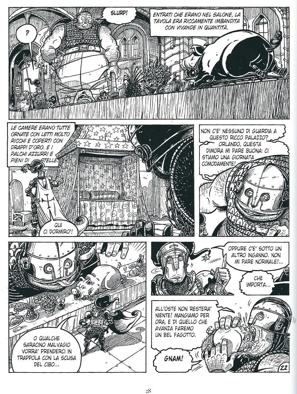 Mauro Cicarè,Il palazzo incantato, matita e china su carta, 2012, tav. 22 [per gentile concessione dell'autore]