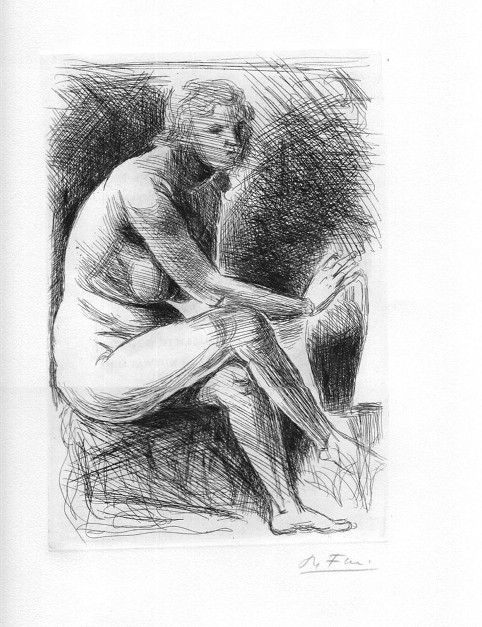 Acquaforte di Achille Funi per Catullo, 1965 a