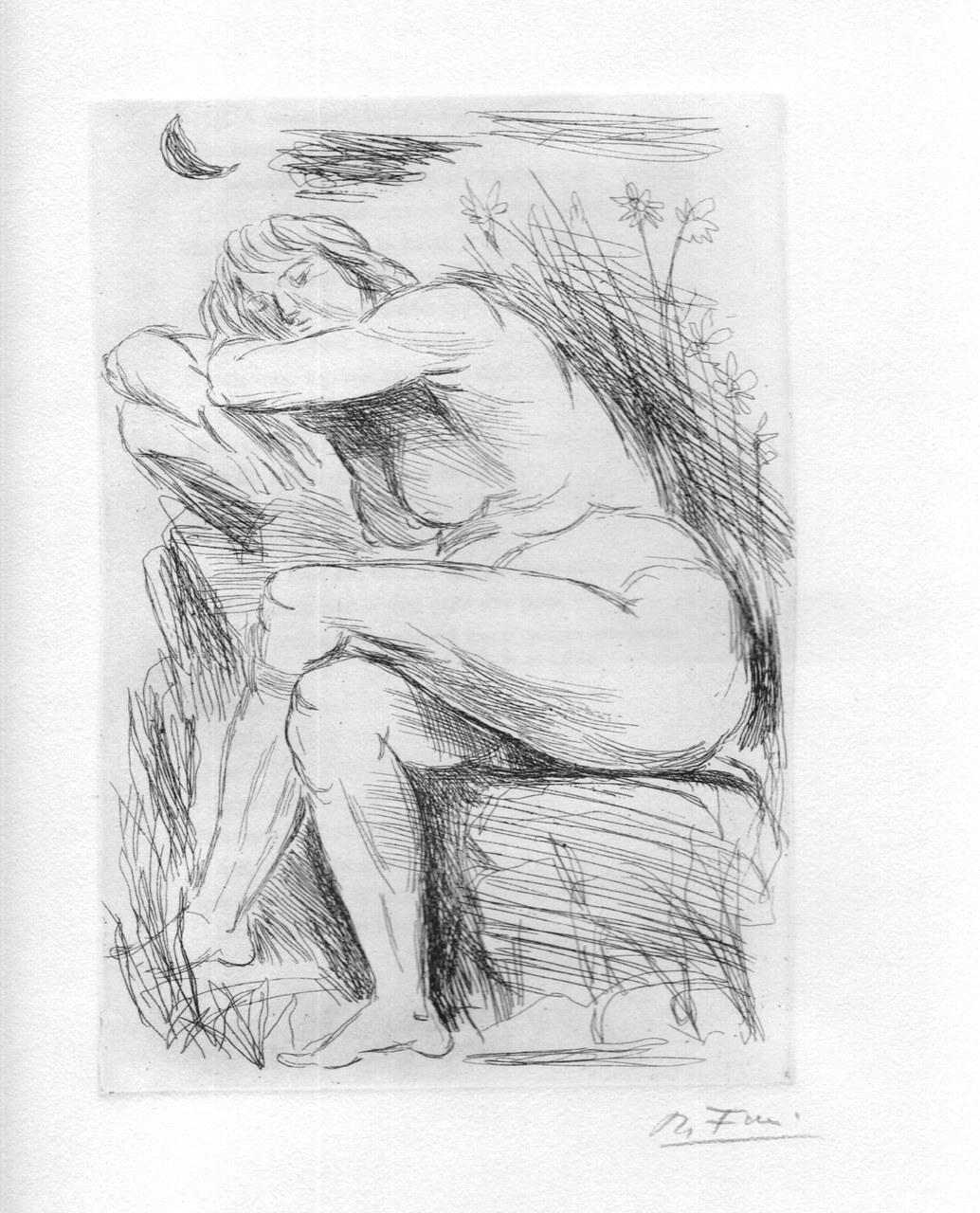 Acquaforte di Achille Funi per Catullo, 1965 b