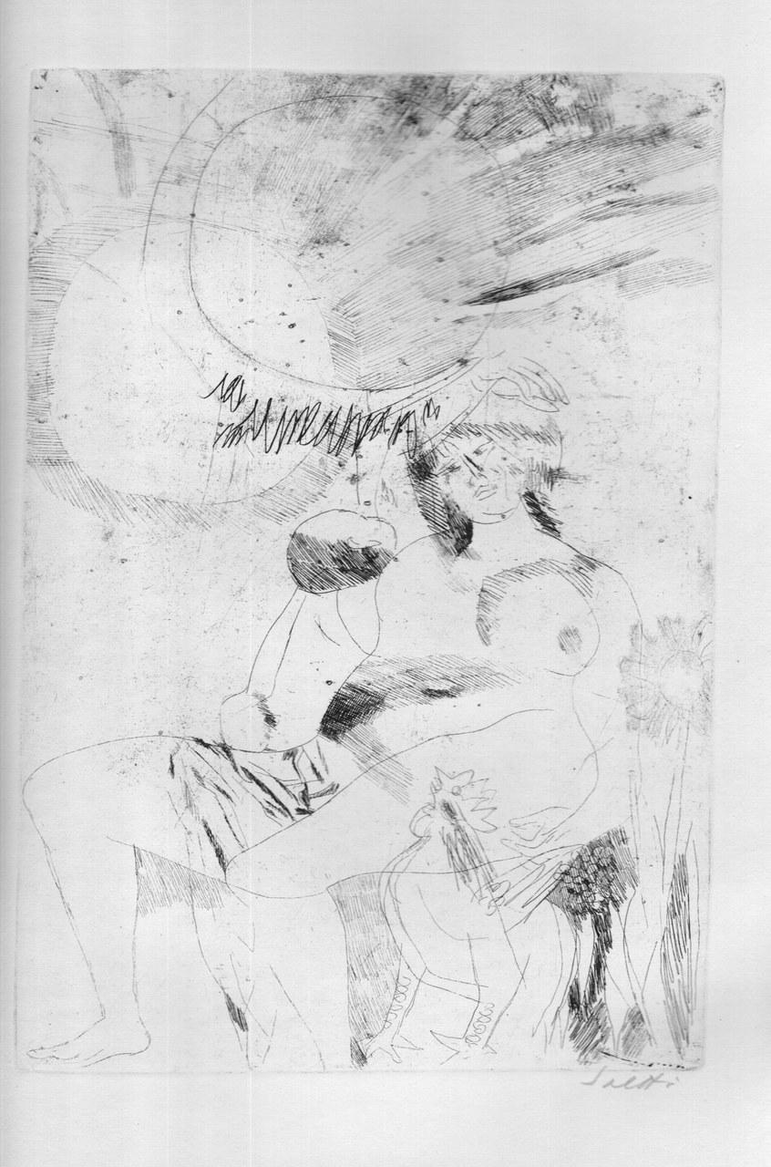 Acquaforte di Bruno Saetti per Lucrezio, 1968 a