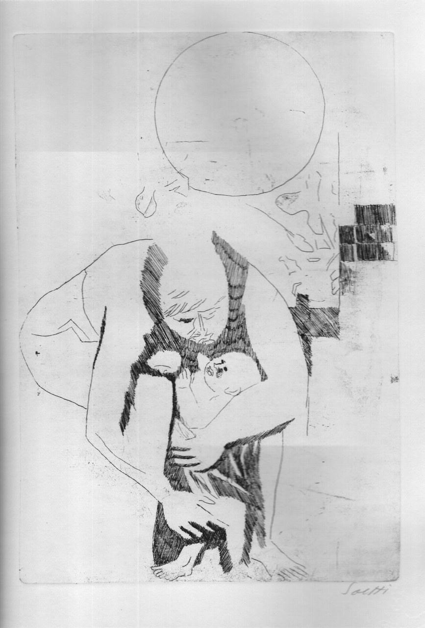 Acquaforte di Bruno Saetti per Lucrezio, 1968 b