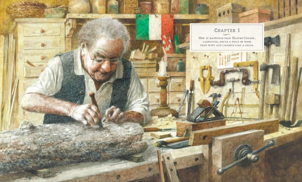 Fig. 7. Robert Ingpen, La bottega di Geppetto
