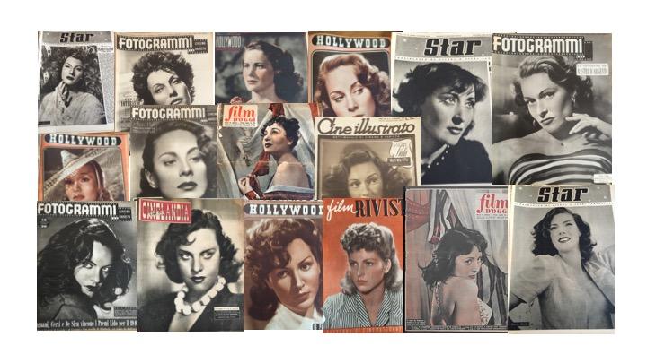 Dive in copertina sui rotocalchi - Coll. Museo Nazionale del Cinema, Torino