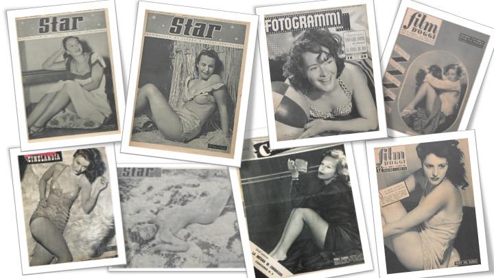 Iconografie divistiche sui rotocalchi: corpi e pose- Coll. Museo Nazionale del Cinema, Torino