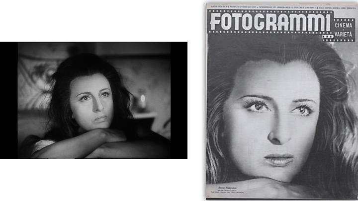 """Assunta Spina. Fotogrammi dal film e foto di scena di Vaselli sulla copertina """"Fotogrammi"""", n. 8, 24 febbraio 1948- Coll. Museo Nazionale del Cinema, Torino"""