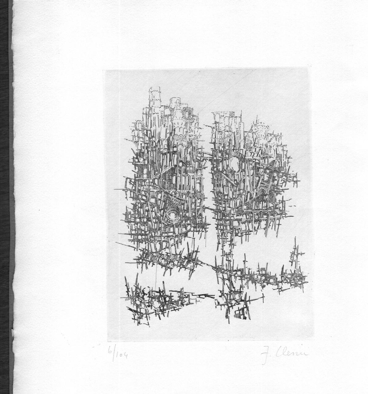 Acquaforte di Fabrizio Clerici per Salinas, 1958