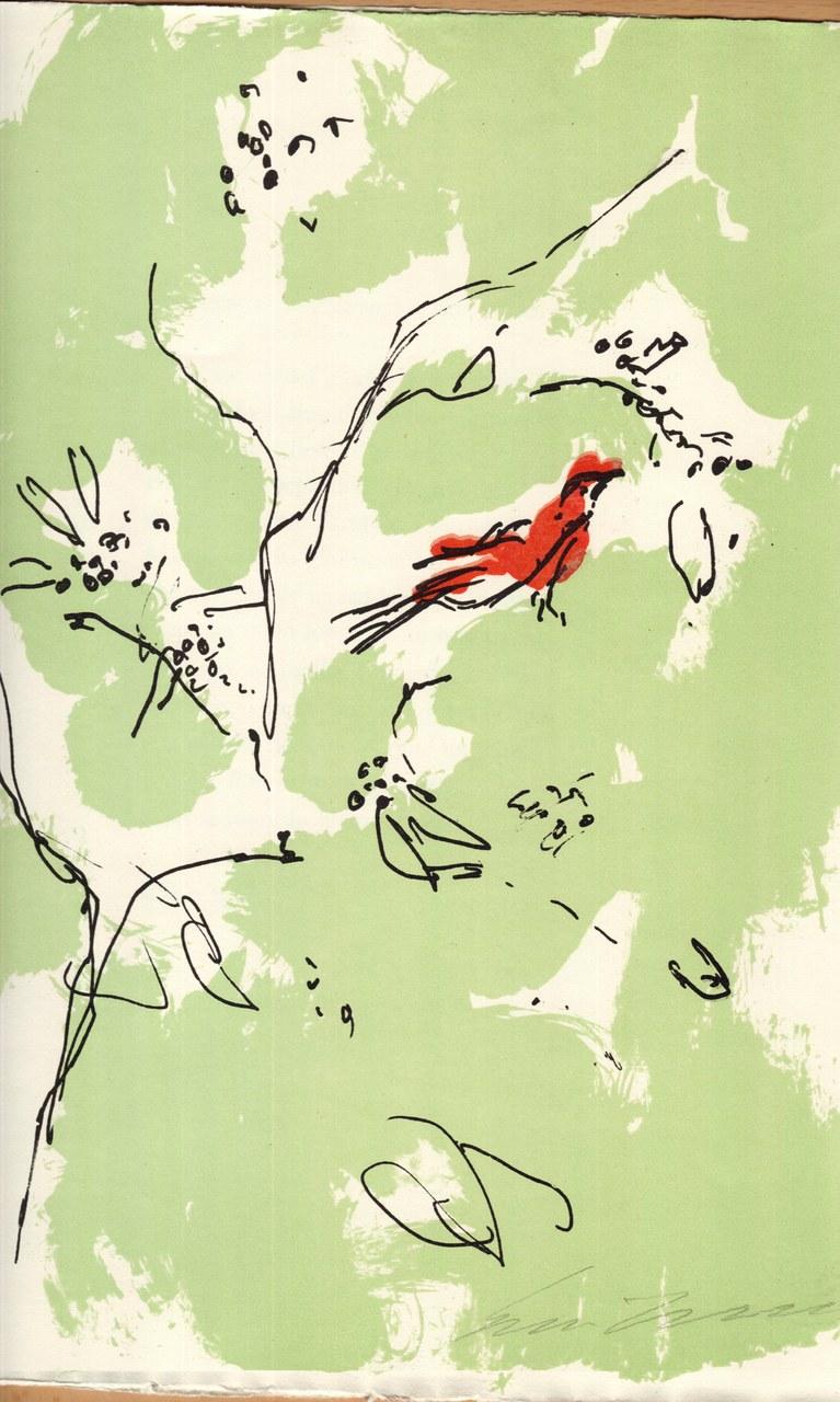 Litografia a colori di Ernesto Treccani per Saba, 1971 a