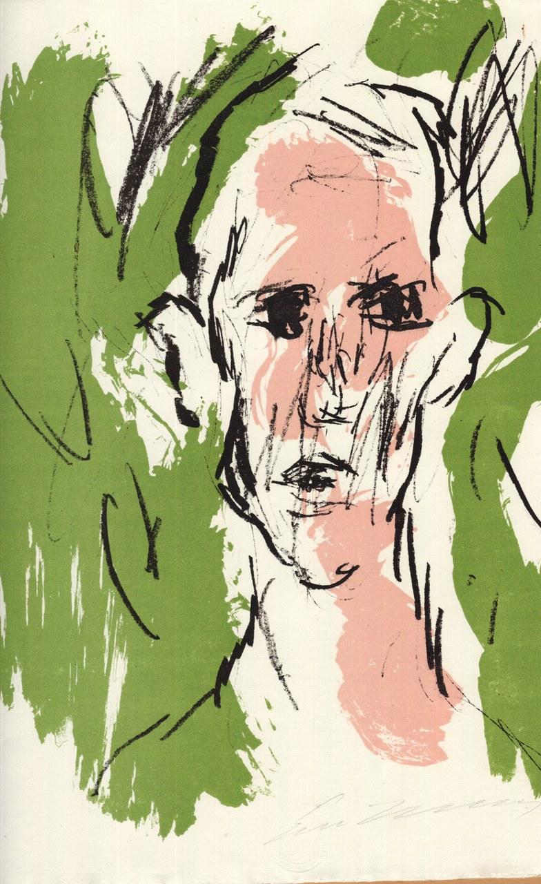 Litografia a colori di Ernesto Treccani per Saba, 1971 b