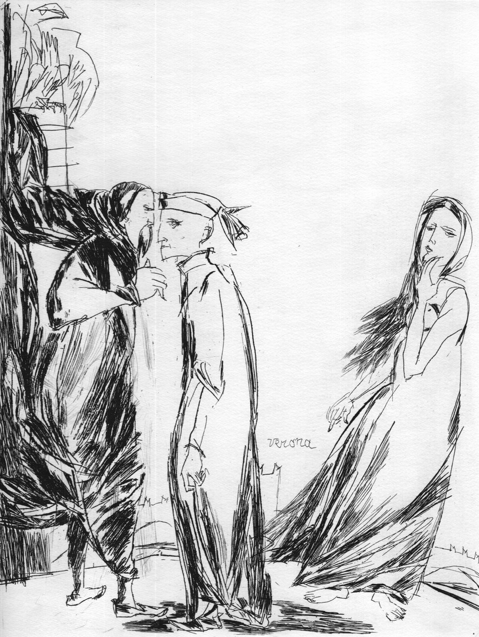 Acquaforte di Arnoldo Ciarrocchi per Dante, 1977
