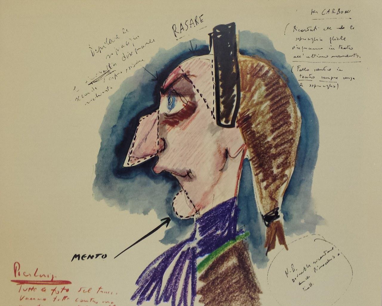 Fig. 1. Disegno di Federico Fellini per Casanova