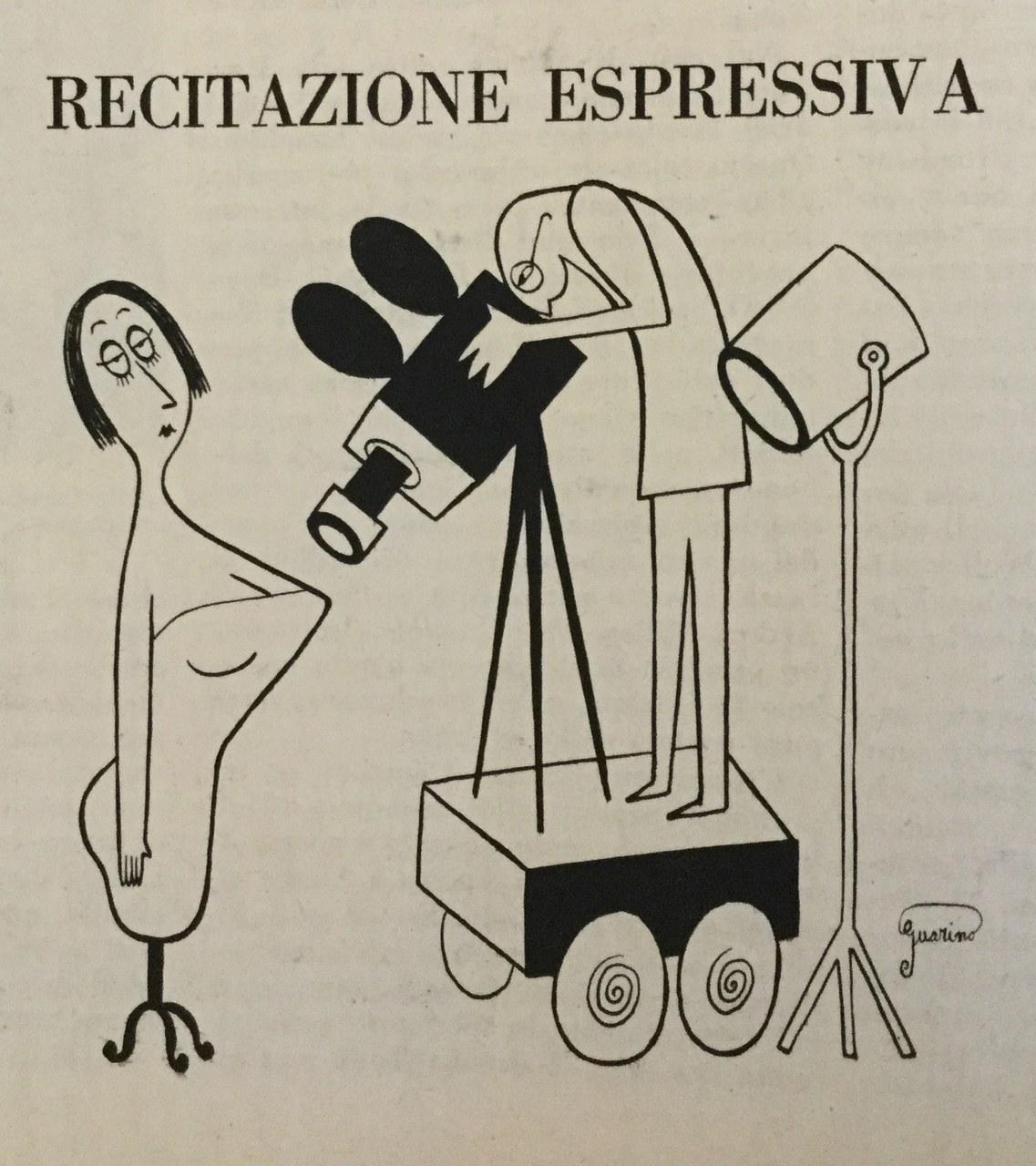 Vignetta umoristica su Cinema nuovo, 10, maggio 1953