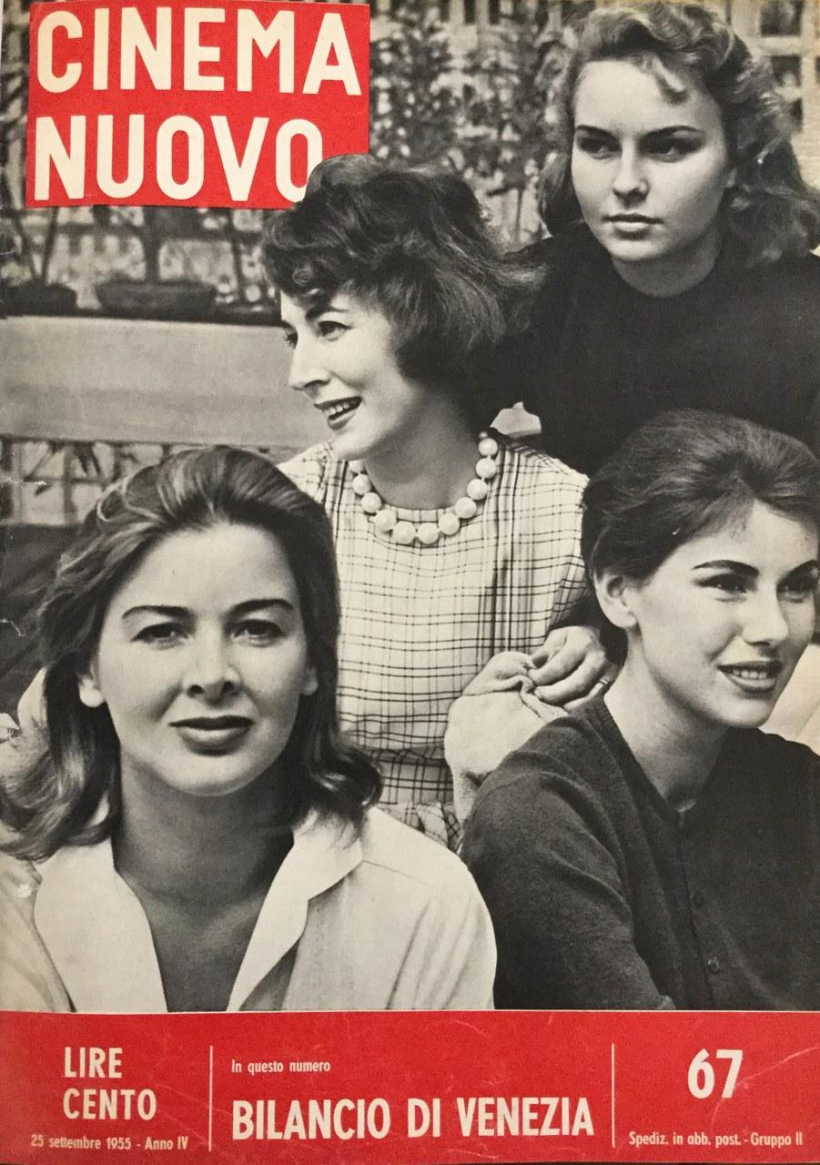 Le attrici di Le amiche sulla copertina del n. 67, settembre 1955