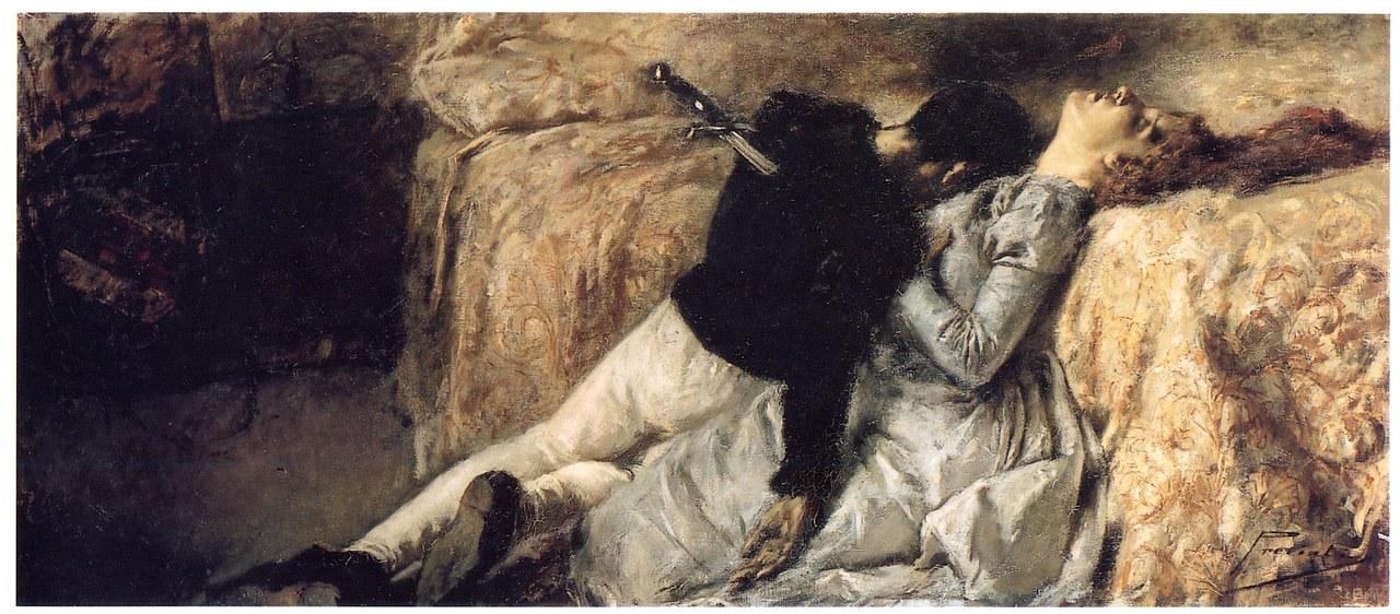fig. 1 Gaetano Previati,Paolo e Francesca, 1887