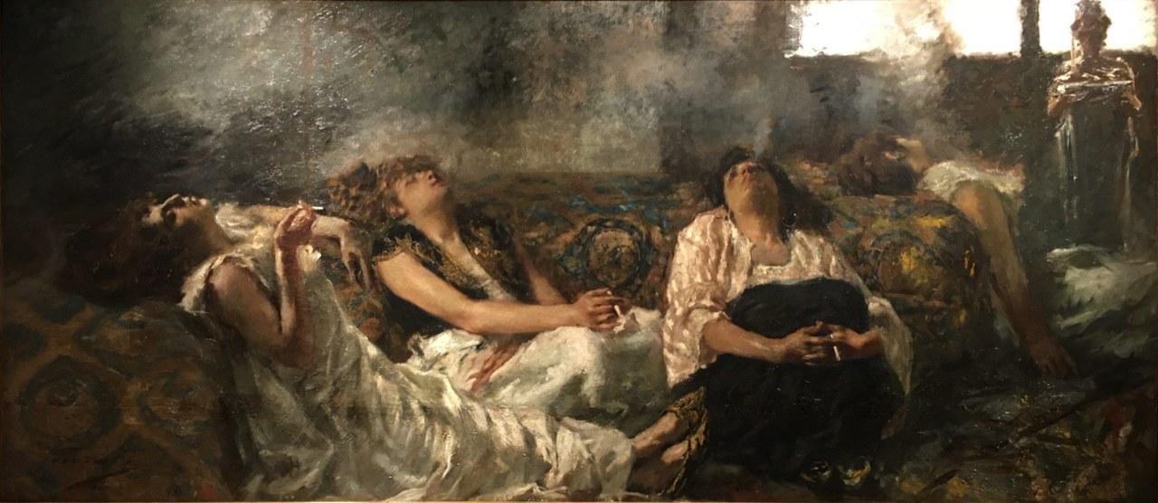 fig. 6 Gaetano Previati,Fumatrici di haschisch, 1887