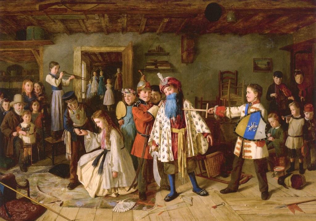 Fig. 7 Charles Hunt, L'uccisione di Barbablù, 1865, collezione privata (Public Domain)