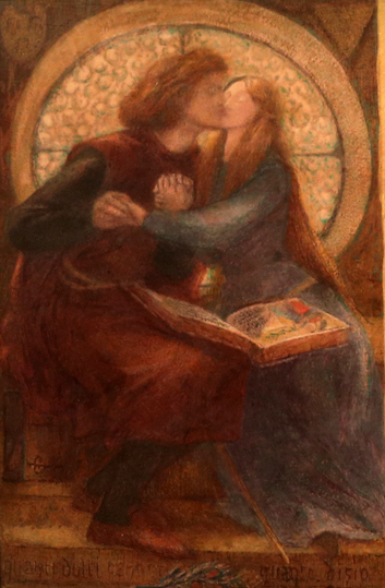 Dante Gabriel Rossetti, Paolo e Francesca da Rimini, 1855, dettaglio